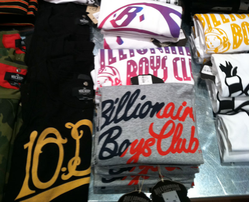 next streetwear boutique - billionaire boys club graphic tees