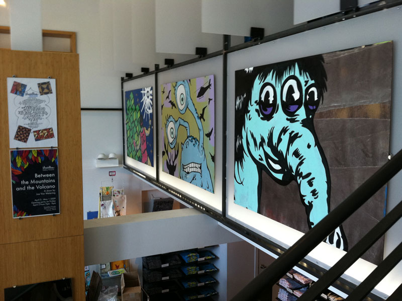 Paintings at Threadless Chicago