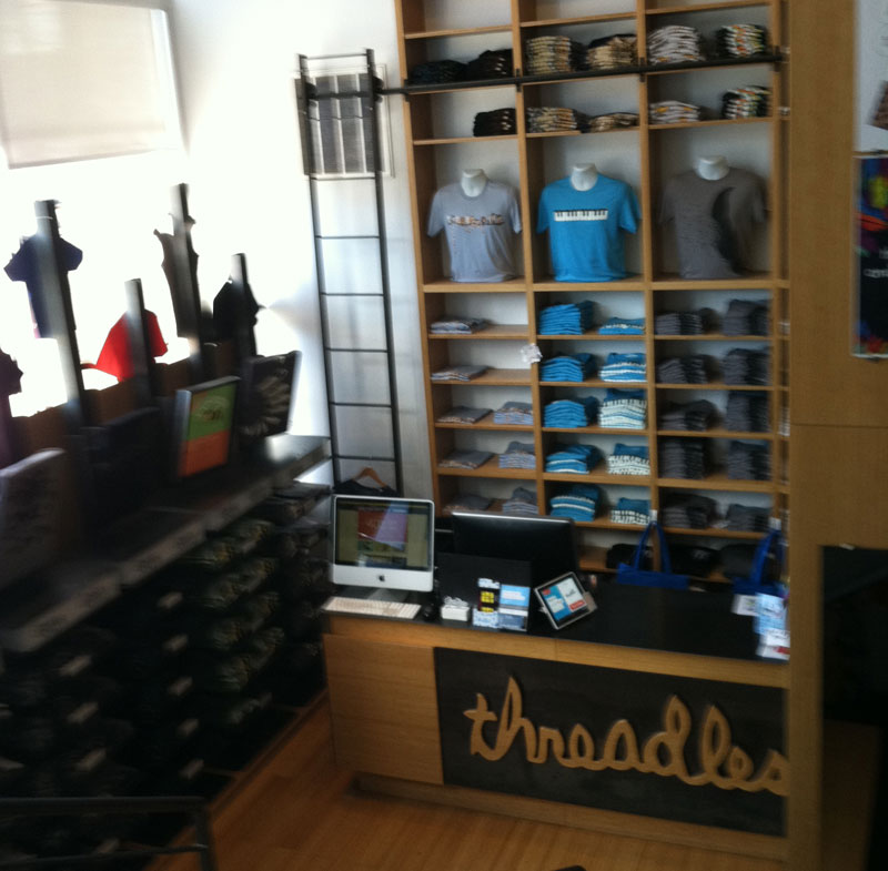 Inside Threadless' Chicago retail location